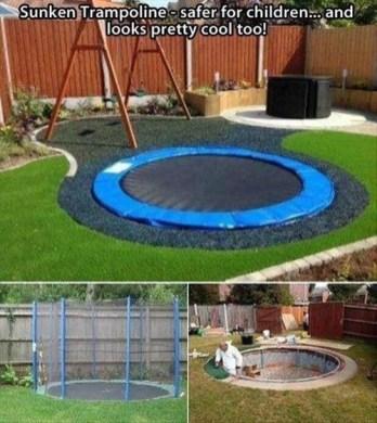 Attractive Sunken Ideas For Backyard Landscape 15