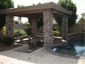 Attractive Sunken Ideas For Backyard Landscape 31