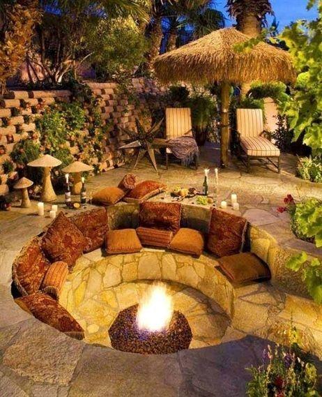 Attractive Sunken Ideas For Backyard Landscape 37