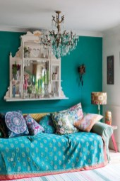Comfy Boho Bedroom Decor With Attractive Color Ideas 13