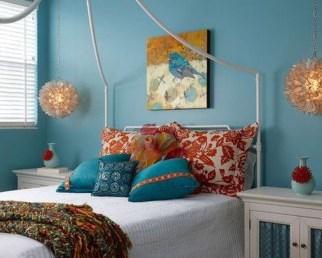 Comfy Boho Bedroom Decor With Attractive Color Ideas 16