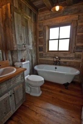 Creative Rustic Bathroom Ideas For Upgrade Your House 34
