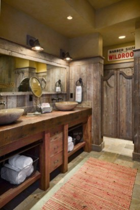 Minimalist Bathroom Winter Decoration Ideas 11