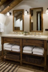 Minimalist Bathroom Winter Decoration Ideas 19