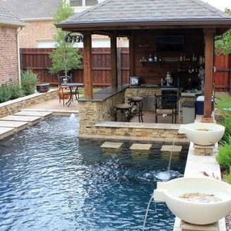 Modern Small Backyard Ideas With Swimming Pool Design 07