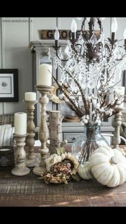 Stylish Fall Home Decor Ideas With Farmhouse Style 26