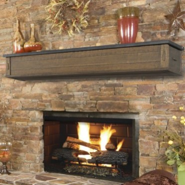 Creative Rustic Christmas Fireplace Mantel Décor Ideas 07