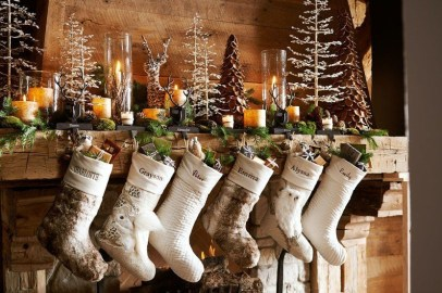 Creative Rustic Christmas Fireplace Mantel Décor Ideas 29