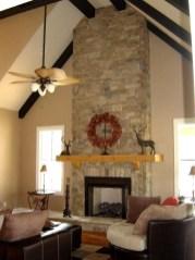 Fabulous Rock Stone Fireplaces Ideas For Christmas Décor 27