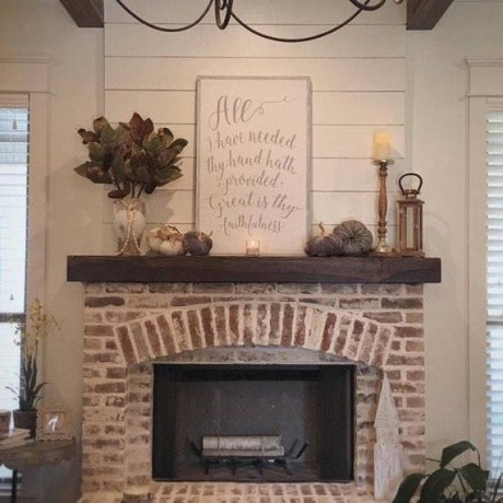 Gorgoeus Rustic Stone Fireplace With Christmas Décor 35