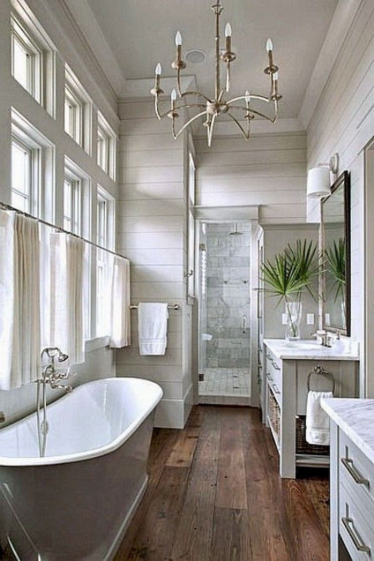 47 Luxurious Small Master Bathroom Design Ideas - ZYHOMY