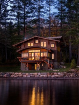 Outstanding Lake House Exterior Designs Ideas Will Totally Love 27