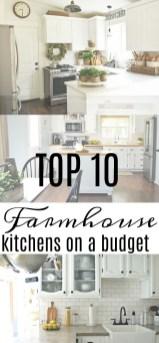 Pretty Farmhouse Kitchen Makeover Ideas On A Budget 25