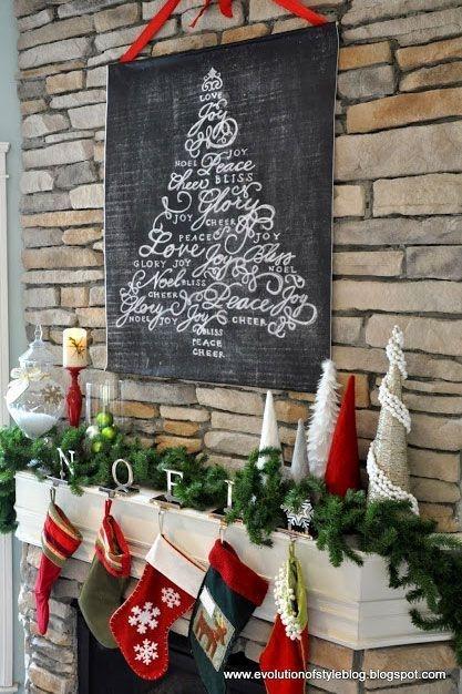 Stunning Fireplace Mantel Decor For Christmas Ideas 45