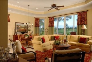 Stylish French Country Living Room Design Ideas 17