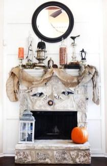 Incredible Halloween Fireplace Mantel Design Ideas05