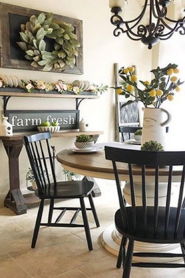 Adorable Farmhouse Dining Room Design Ideas13