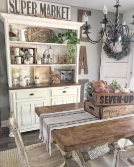 Adorable Farmhouse Dining Room Design Ideas37