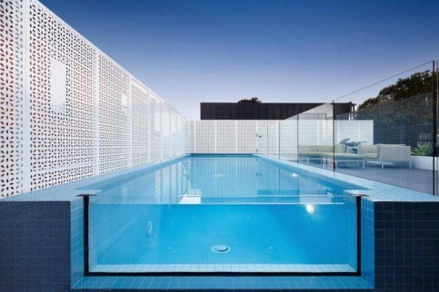 Amazing Glass Pool Design Ideas For Home12