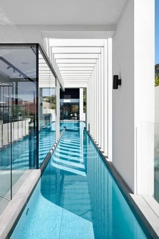 Amazing Glass Pool Design Ideas For Home16