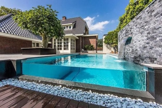 Amazing Glass Pool Design Ideas For Home34