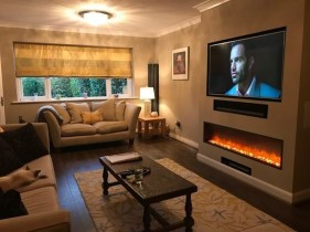 Cool Electric Fireplace Designs Ideas For Living Room45