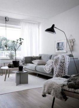 Perfect Scandinavian Living Room Design Ideas25