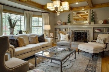 Pretty French Country Living Room Design Ideas26