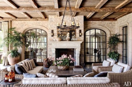 Pretty French Country Living Room Design Ideas40