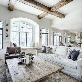 Smart Farmhouse Living Room Design Ideas19