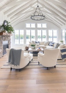Smart Farmhouse Living Room Design Ideas24
