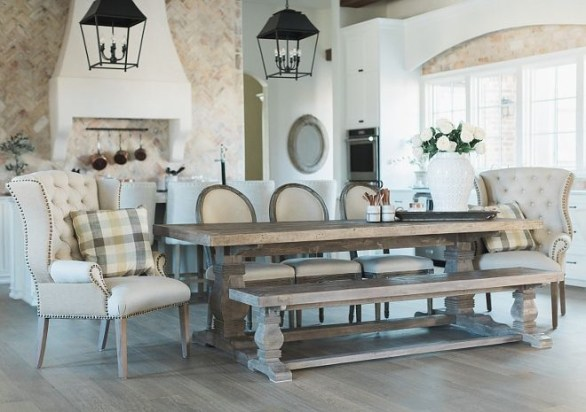 Wonderful French Country Dining Room Table Decor Ideas24