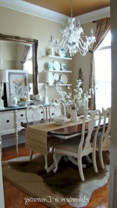 Wonderful French Country Dining Room Table Decor Ideas26