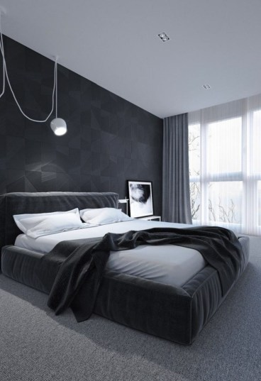 Amazing Black Bedroom Design Ideas For Home41