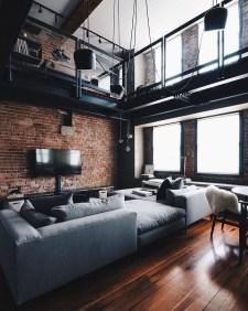 Creative Industrial Living Room Designs Ideas17
