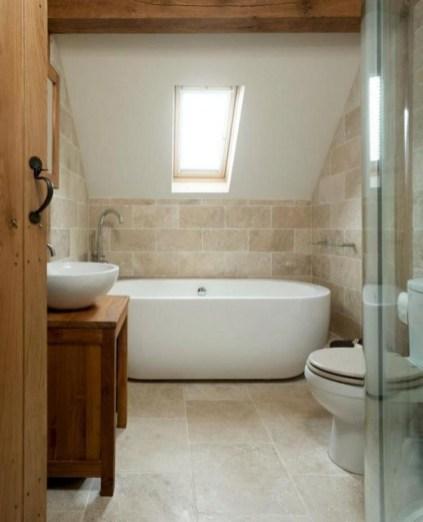 Fascinating Small Attic Bathroom Design Ideas35