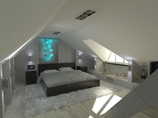 Fascinating Small Attic Bathroom Design Ideas45