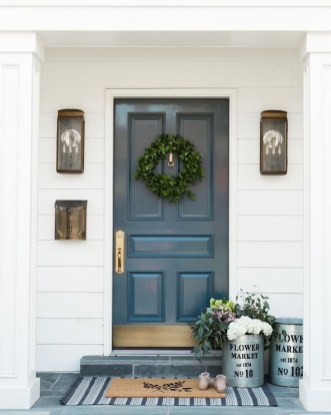 Perfect Painted Exterior Door Ideas27