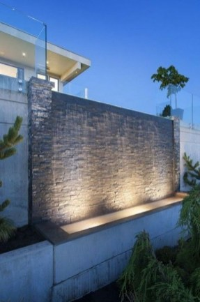 Stylish Outdoor Water Walls Ideas For Backyard14