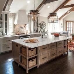 Cool Farmhouse Kitchen Color Design Ideas41