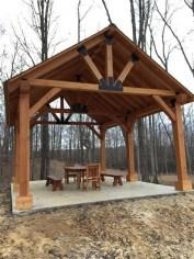 Modern Wood Pavilion Design Ideas For Backyard19