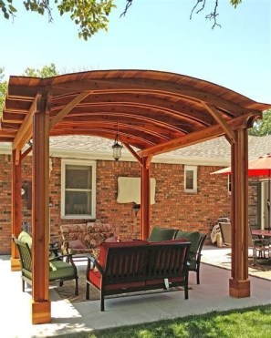 Modern Wood Pavilion Design Ideas For Backyard33