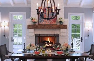 Unique Farmhouse Fireplace Design Ideas For Living Room19