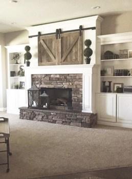 Unique Farmhouse Fireplace Design Ideas For Living Room25