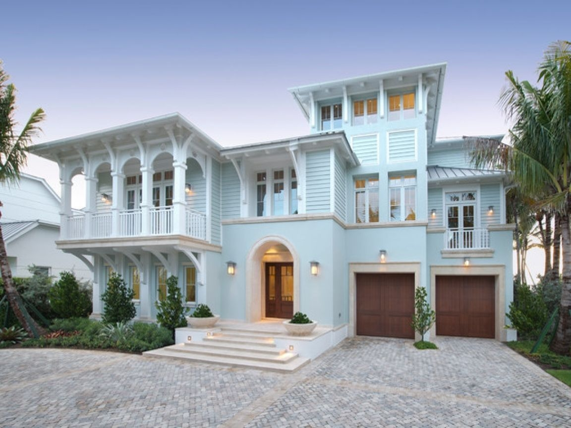 Wonderful beach house exterior color ideas42