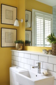 Wonderful Yellow And White Bathroom Ideas02