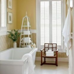 Wonderful Yellow And White Bathroom Ideas11