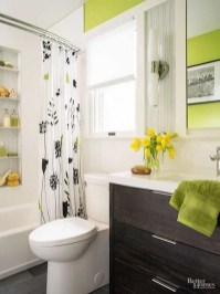 Wonderful Yellow And White Bathroom Ideas15