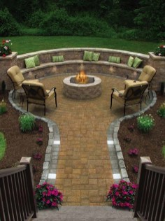 Beautiful Outdoor Fire Pits Ideas42
