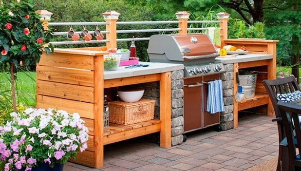 Elegant Small Kitchen Ideas For Outdoor35